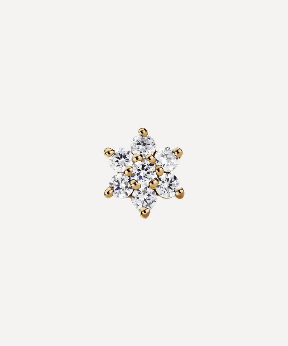 Maria Tash - 5.5mm Diamond Flower Threaded Stud Earring