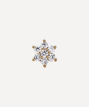 5.5mm Diamond Flower Threaded Stud Earring