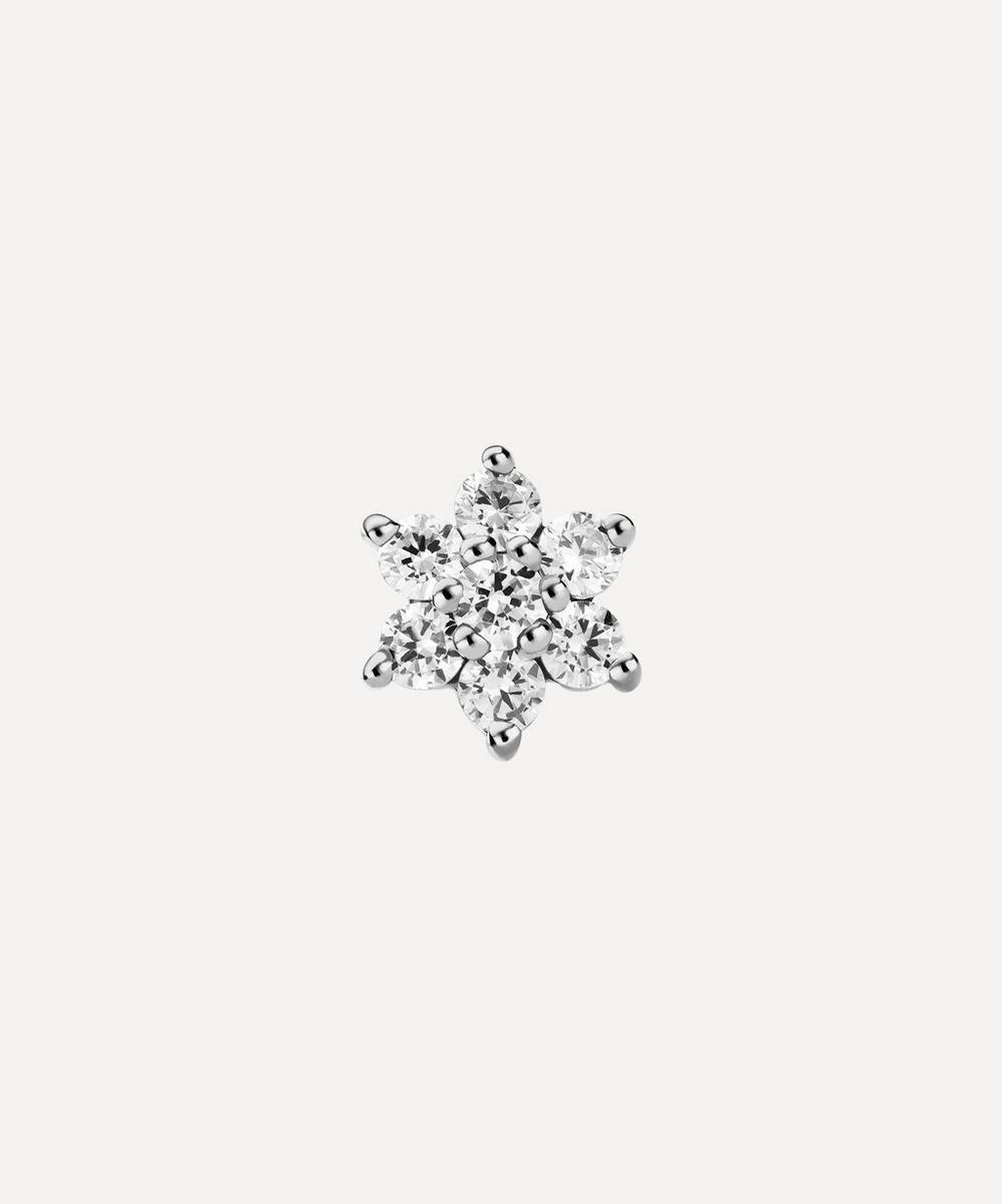 Maria Tash - 5.5mm Diamond Flower Threaded Stud Earring