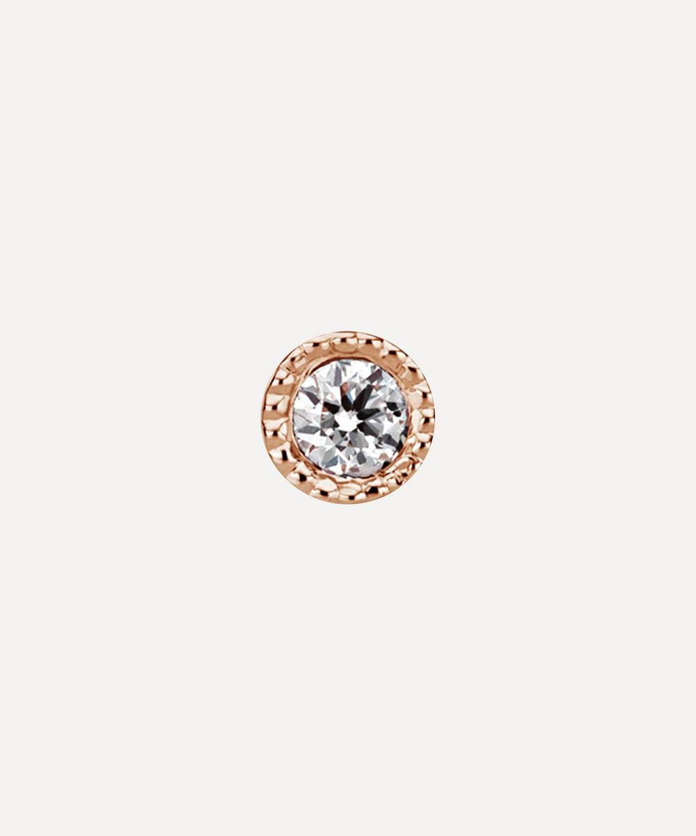Maria Tash - 1.5mm Scalloped Set Diamond Threaded Stud Earring