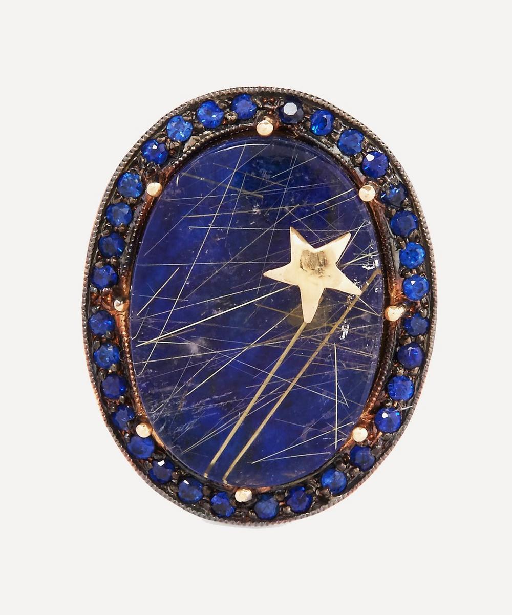 Andrea Fohrman - Gold Galaxy Lapis Lazuli Quartz Ring
