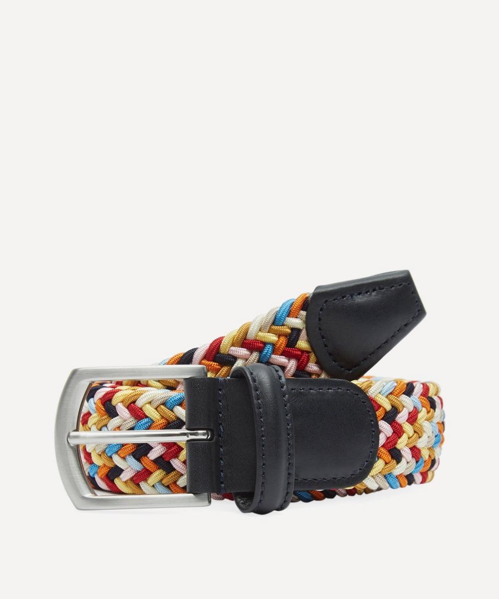 Anderson's - Tricolour Melange Zig Zag Woven Belt