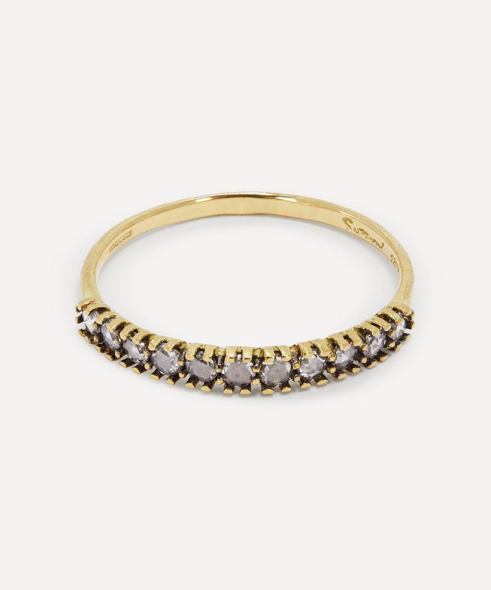 Satomi Kawakita - Antique-Style Diamond Half Eternity Ring