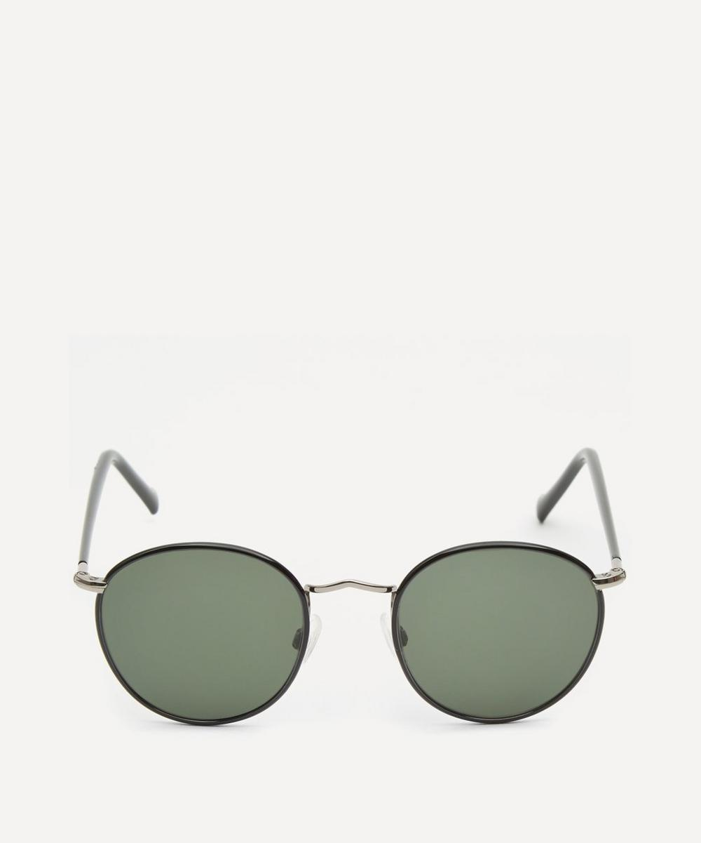 Moscot - Zev Round Metal and Acetate Sunglasses