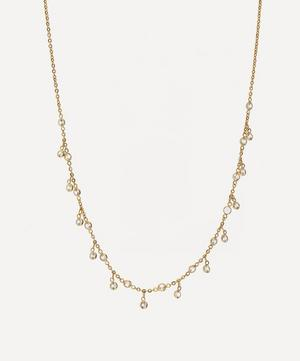18ct Gold Nectar White Sapphire Necklace