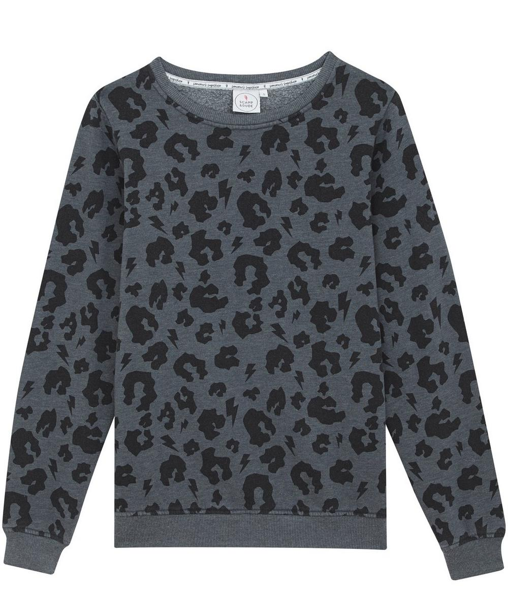 Scamp & Dude - Adult Leopard Print Slouchy Sweater XS-XL