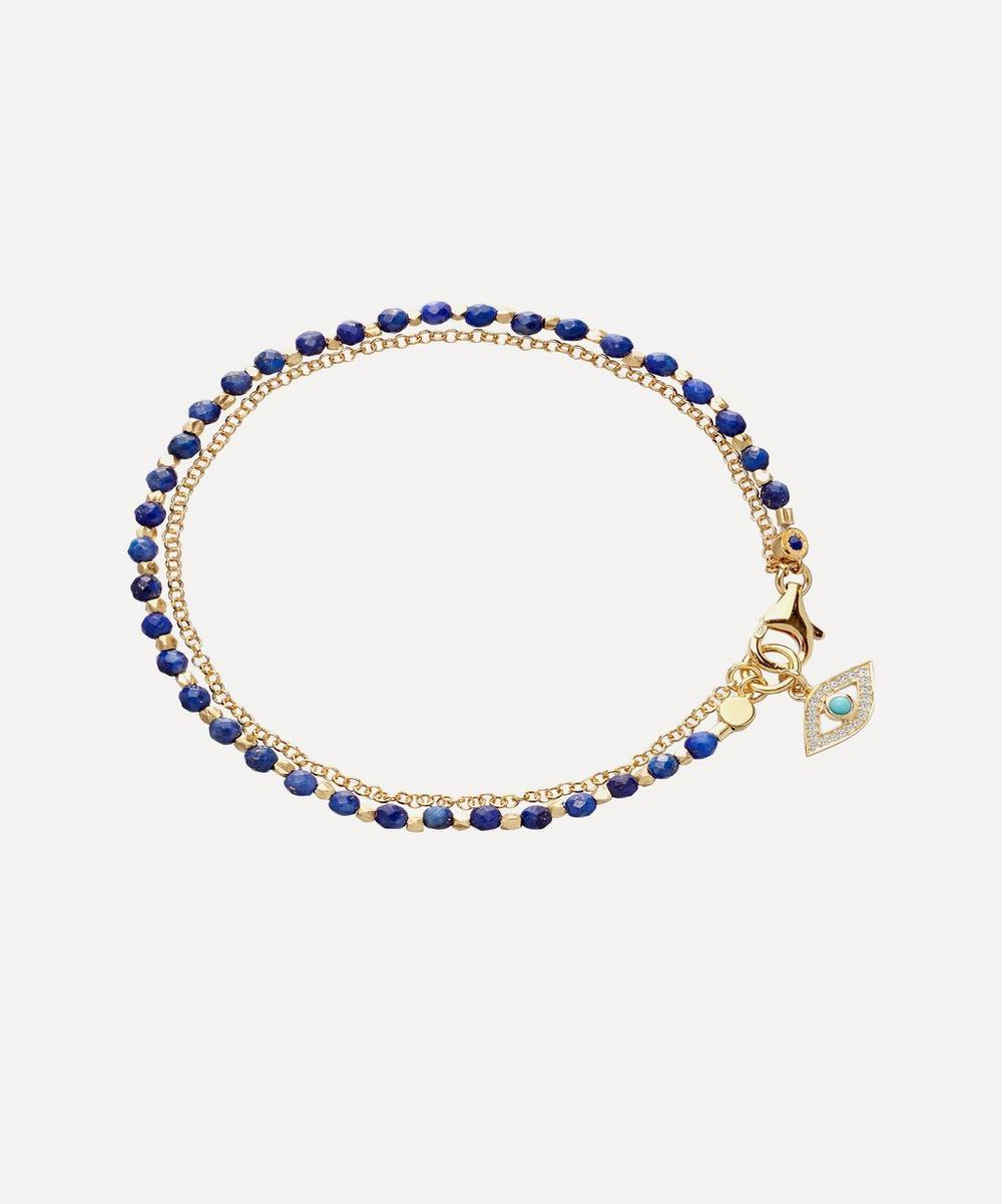 Astley Clarke - Gold Plated Vermeil Silver Evil Eye Lapis Biography Bracelet
