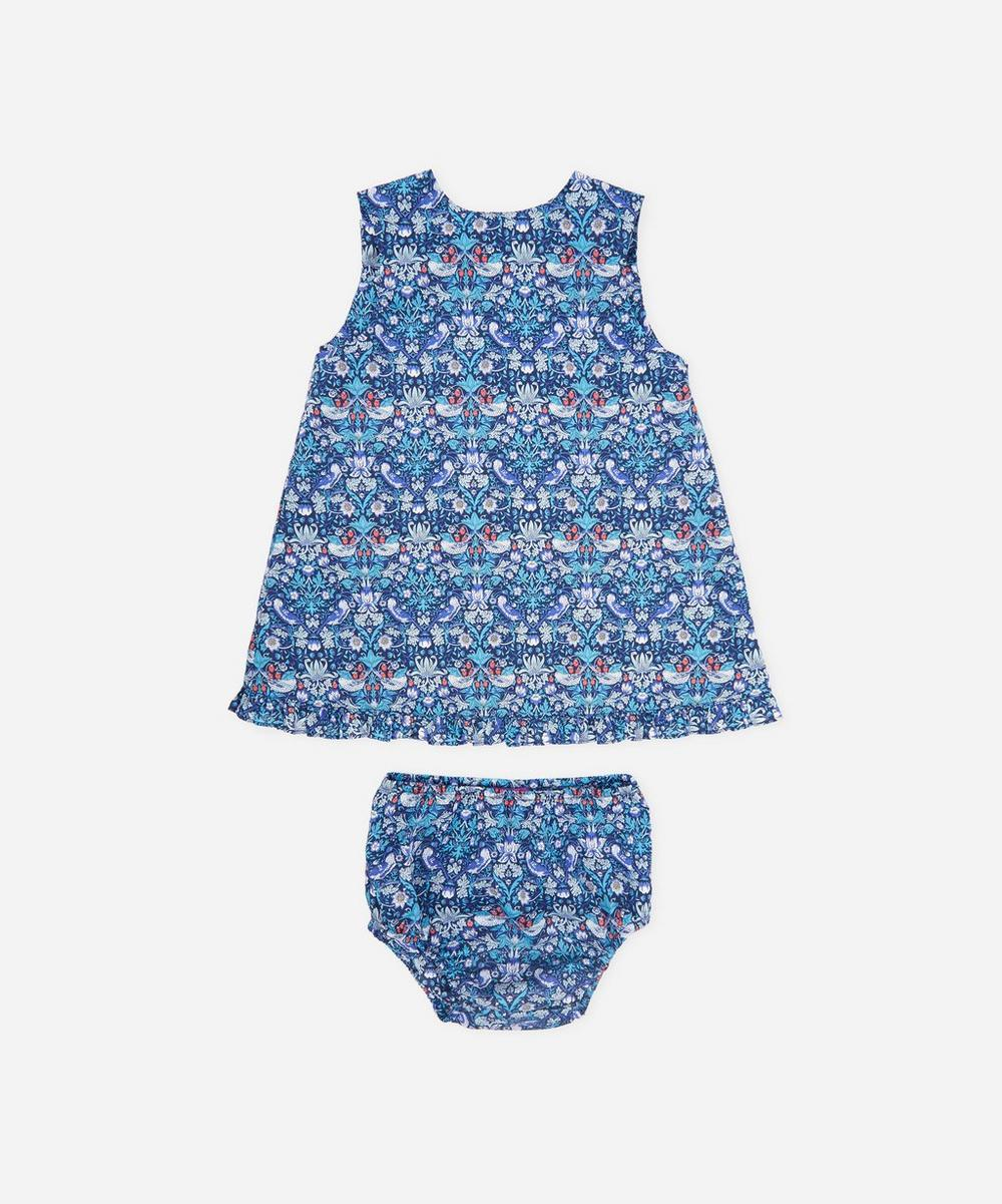 Liberty - Strawberry Thief Wrap Dress and Bloomers 3 Months-3 Years