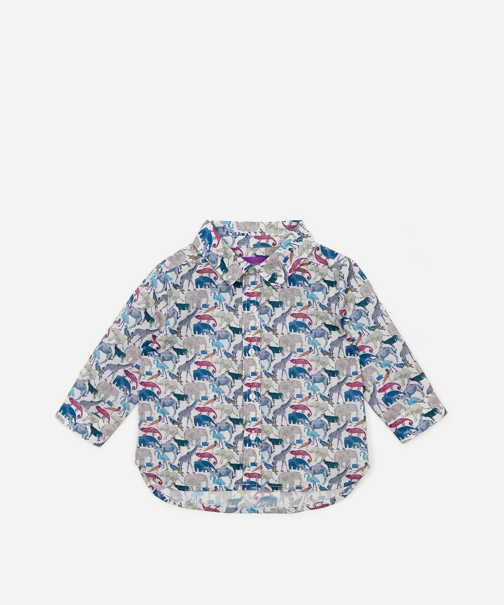 Liberty London - Queue For The Zoo Tana Lawn™ Cotton Shirt 3-24 Months