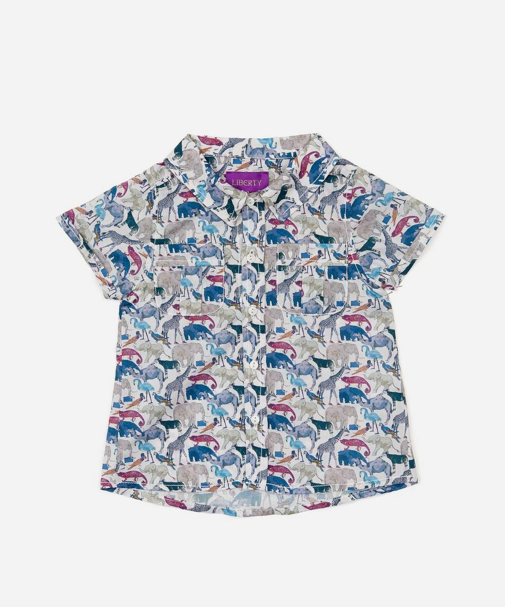 Liberty - Queue For The Zoo Short Sleeved Shirt 3-24 Months
