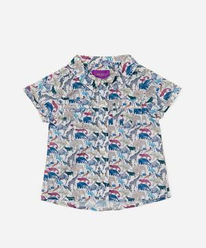 Queue For The Zoo Short Sleeved Shirt 3-24 Months
