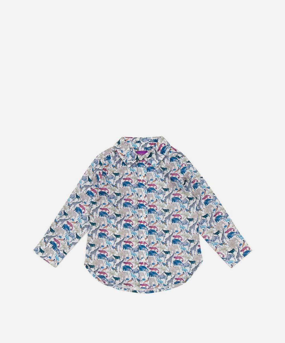 Liberty London - Queue For The Zoo Tana Lawn™ Cotton Long Sleeve Shirt 2-10 Years