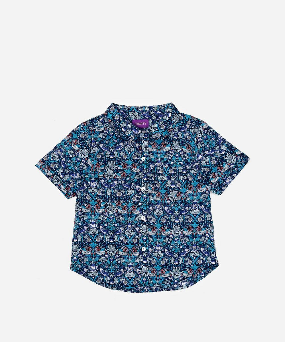 Liberty London - Strawberry Thief Tana Lawn™ Cotton Short-Sleeve Shirt 2-6 Years
