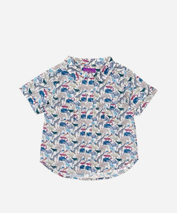 Liberty - Queue For The Zoo Short Sleeved Shirt 2-10 Years