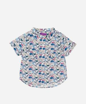 Queue For The Zoo Tana Lawn™ Cotton Short Sleeve Shirt 2-10 Years