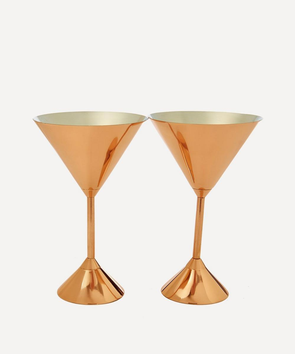 Tom Dixon - Plum Martini Glass Set