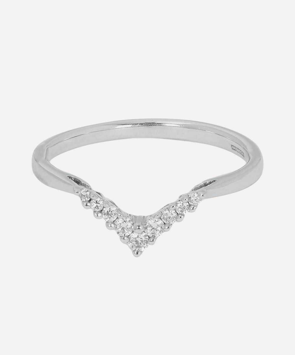 Anna Sheffield - White Gold White Diamond Chevron Ring
