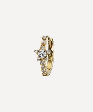 "5/16"" Diamond Star Eternity Hoop Earring"