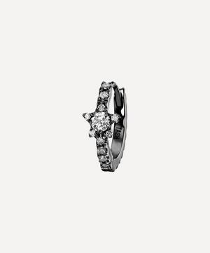 8mm Diamond Star Eternity Hoop Earring