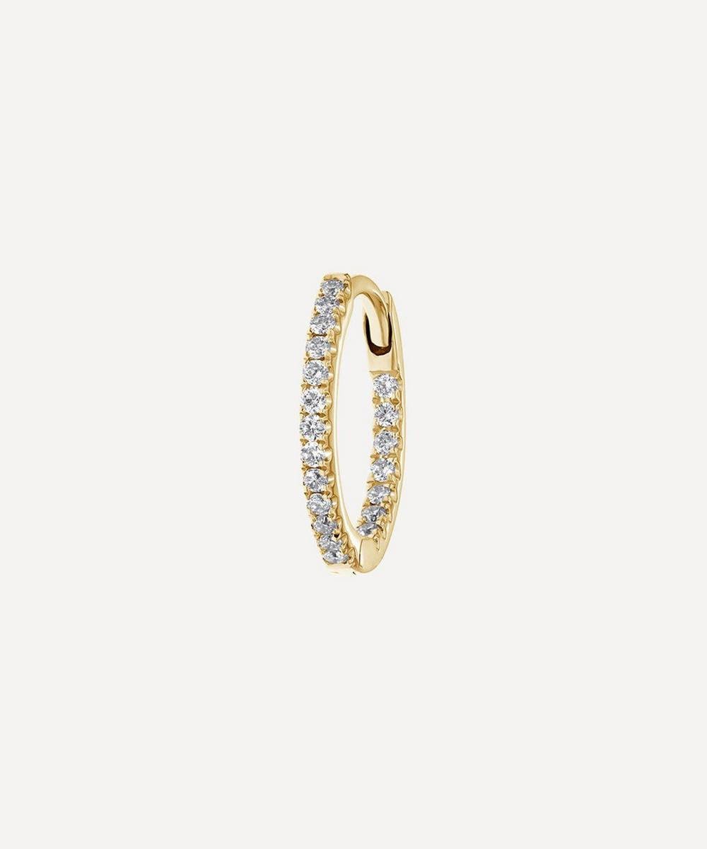 "Maria Tash - 3/8"" Diamond Front-Facing Eternity Hoop Earring"