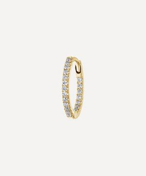 9.5mm Diamond Front-Facing Eternity Hoop Earring