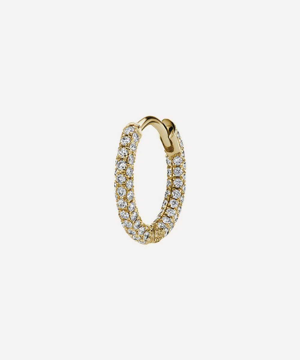 """Maria Tash - 5/16"""" Diamond Five Row Pavé Hoop Earring"""