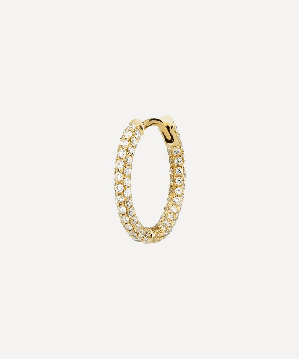 "Maria Tash - 3/8"" Diamond Five Row Pavé Hoop Earring"