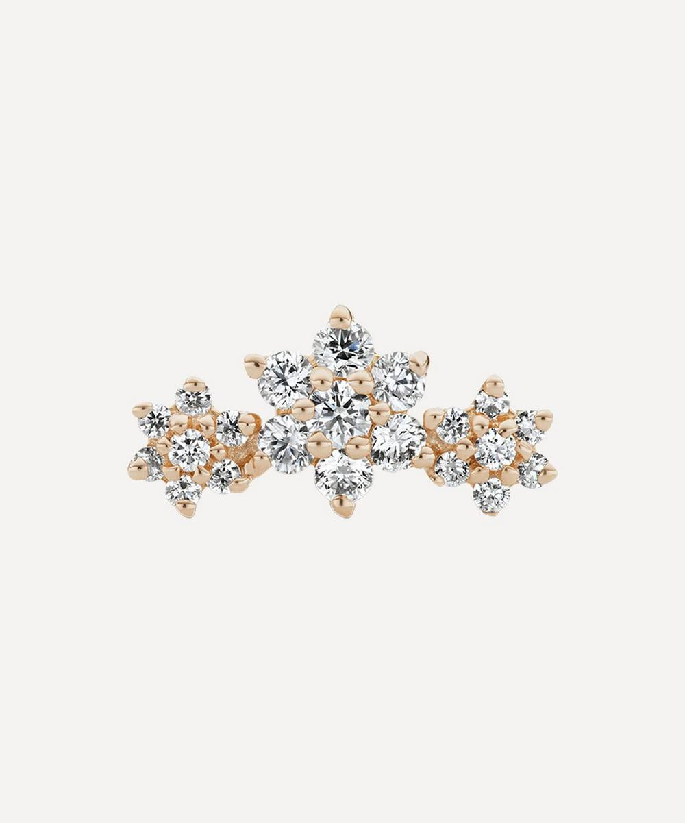 Maria Tash - Diamond Flower Garland Threaded Stud Earring