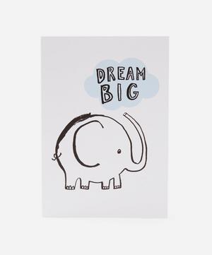 Dream Big Elephant Birthday Card