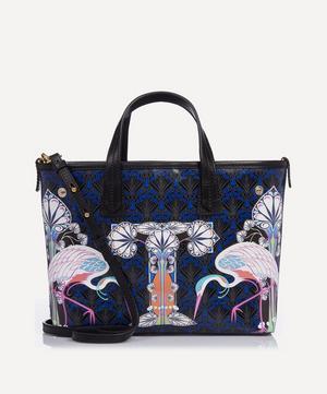Mini Marlborough Tote Bag in T Print