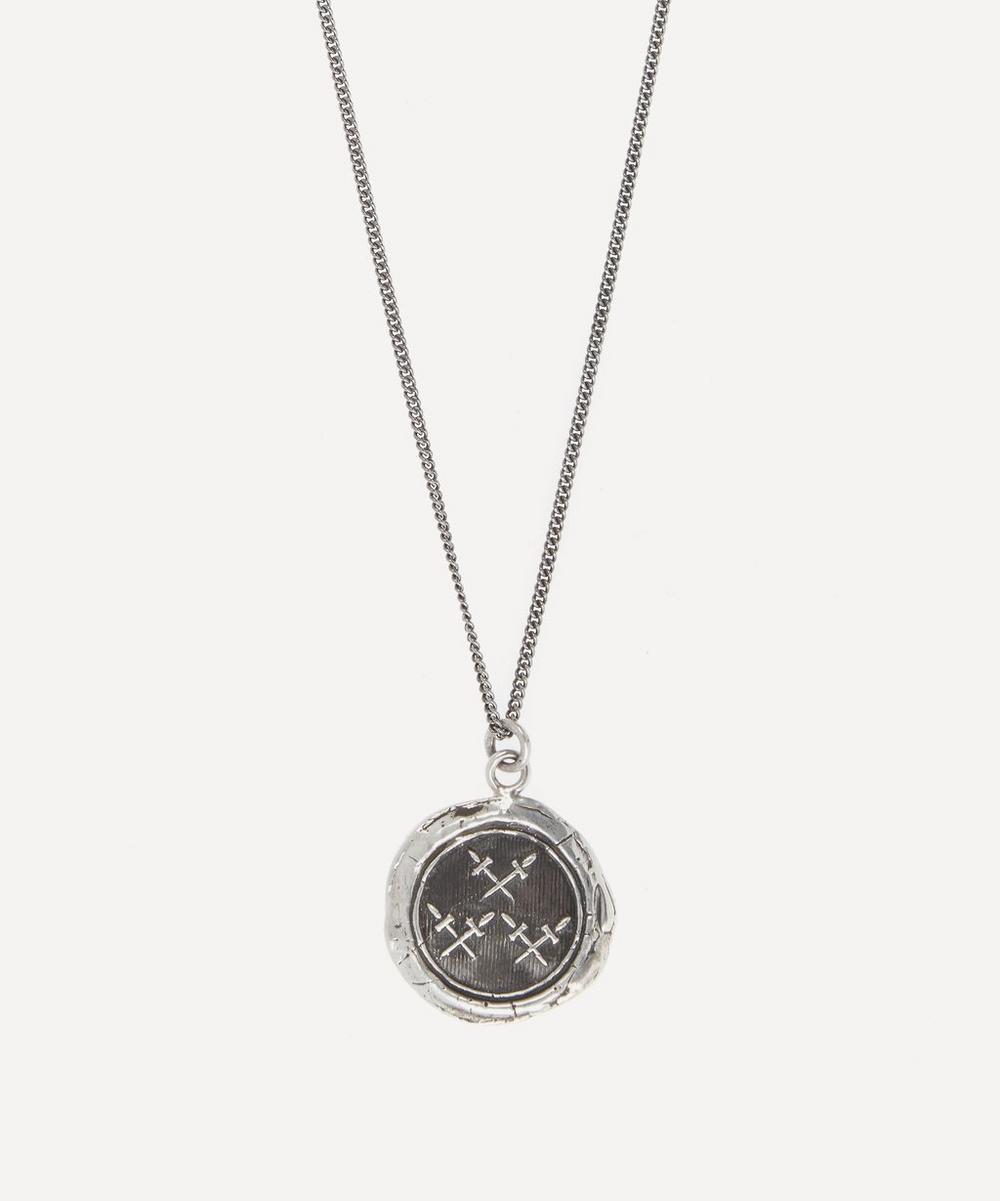 Pyrrha - Crossed Daggers Necklace