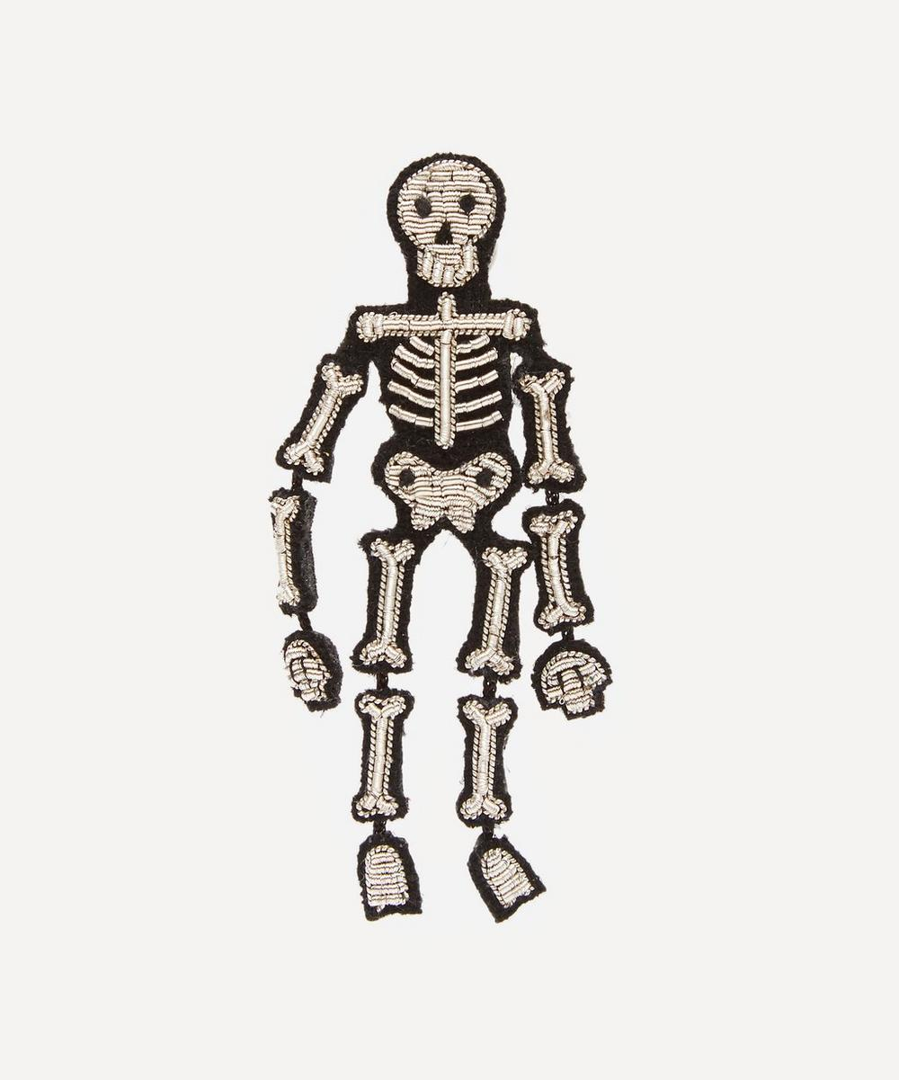 Macon & Lesquoy - Embroidered Skeleton Brooch