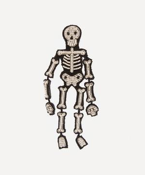 Embroidered Skeleton Brooch