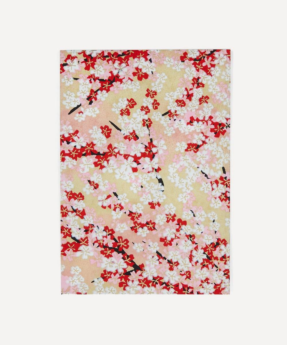 Esmie - Screen-Printed Red Blossom Greeting Card