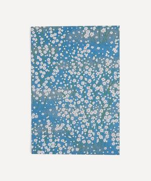 Screen-Printed White Blossom Greeting Card