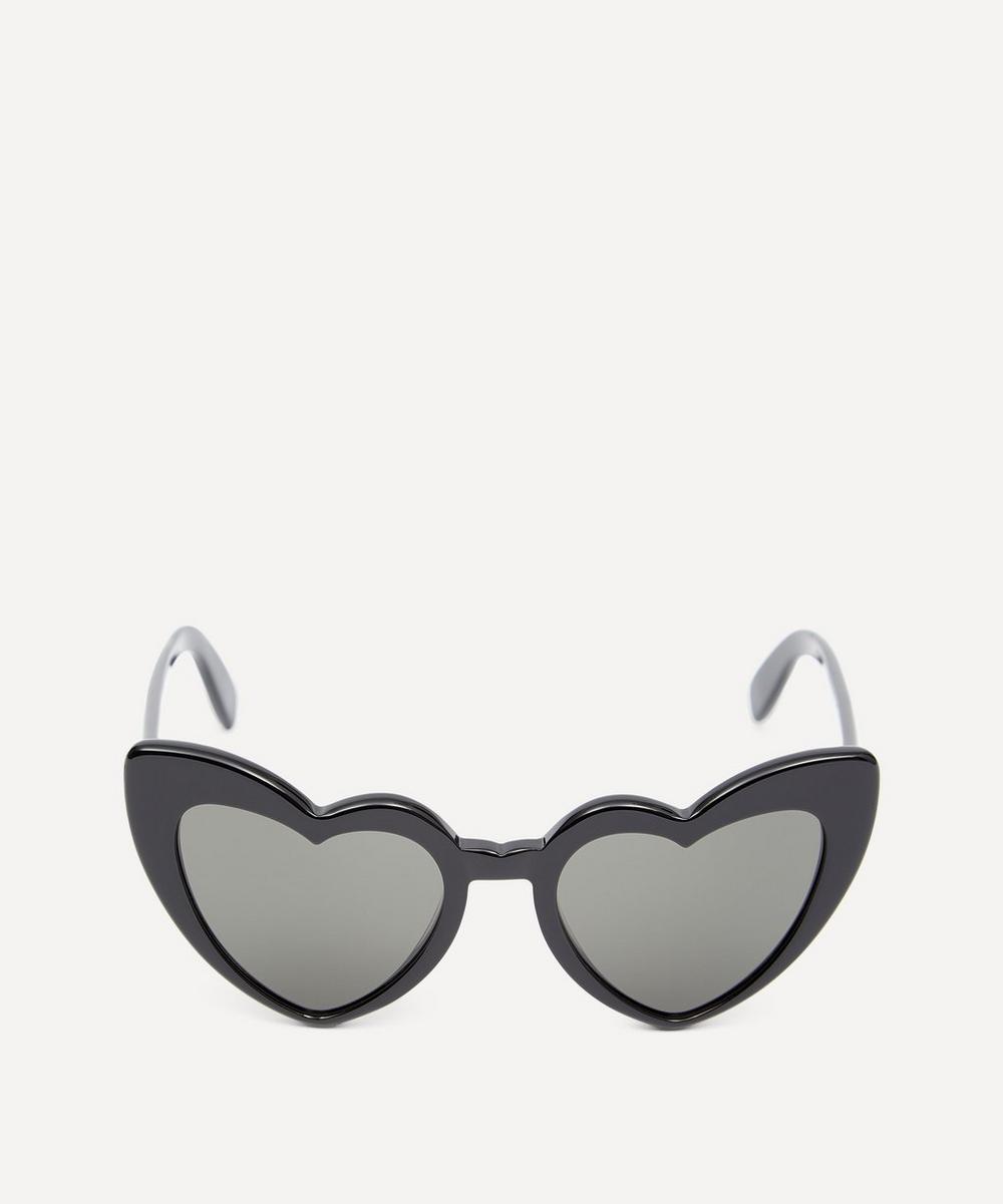 Saint Laurent - Lou Lou Heart Cat-Eye Sunglasses