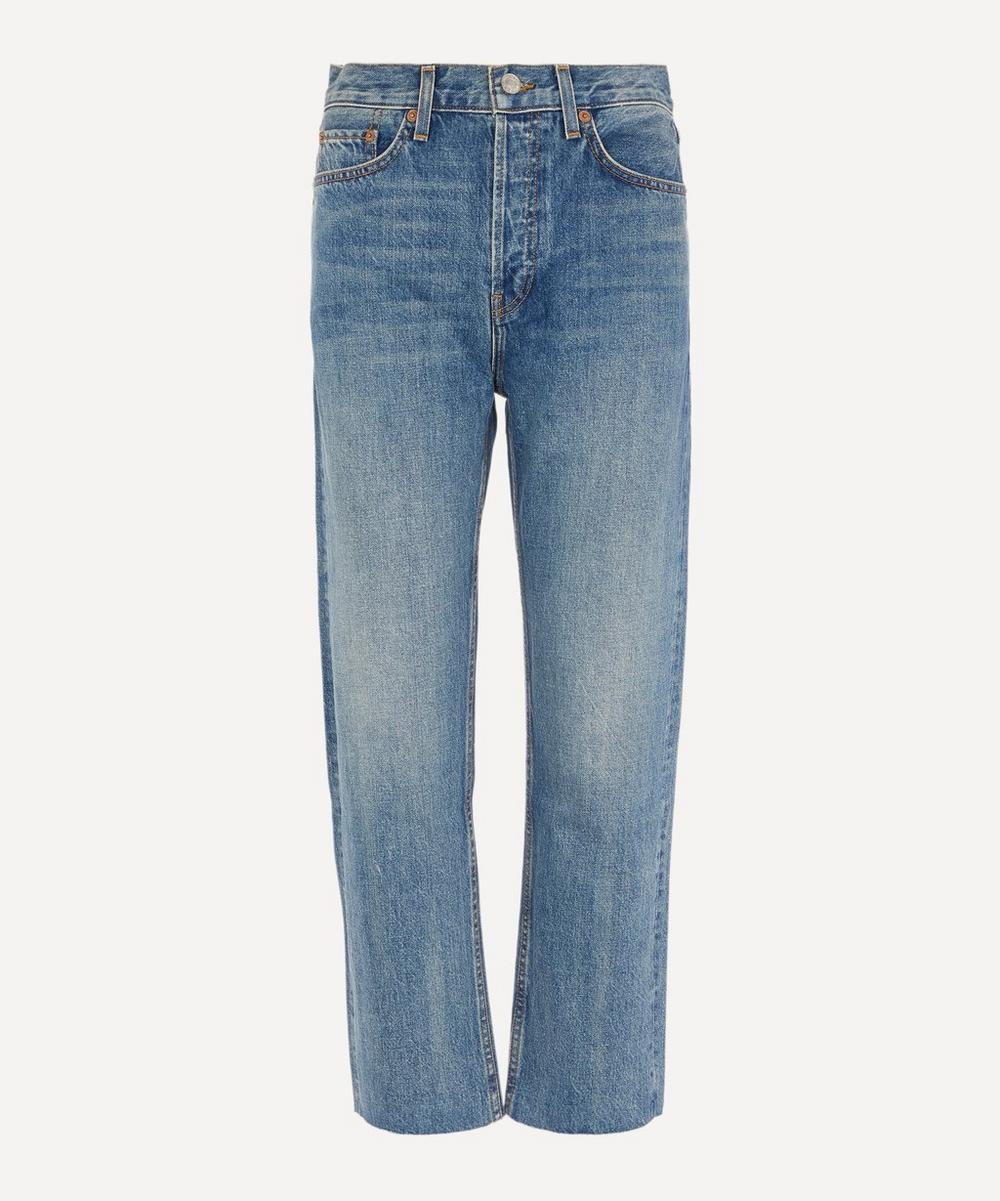 RE/DONE - Stove Pipe High-Rise Rigid Jeans