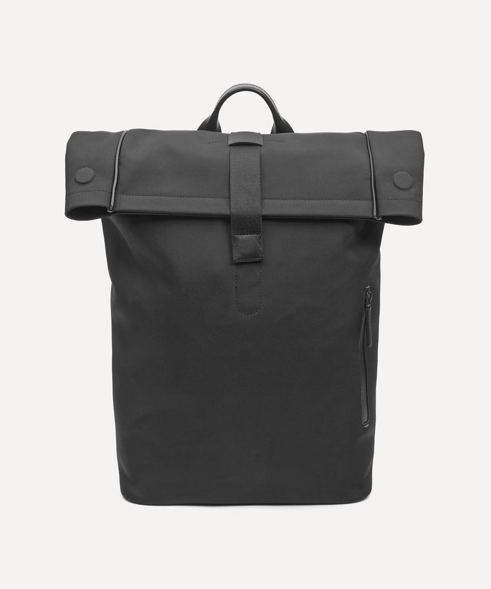 Troubadour - Fabric and Leather Rolltop Rucksack