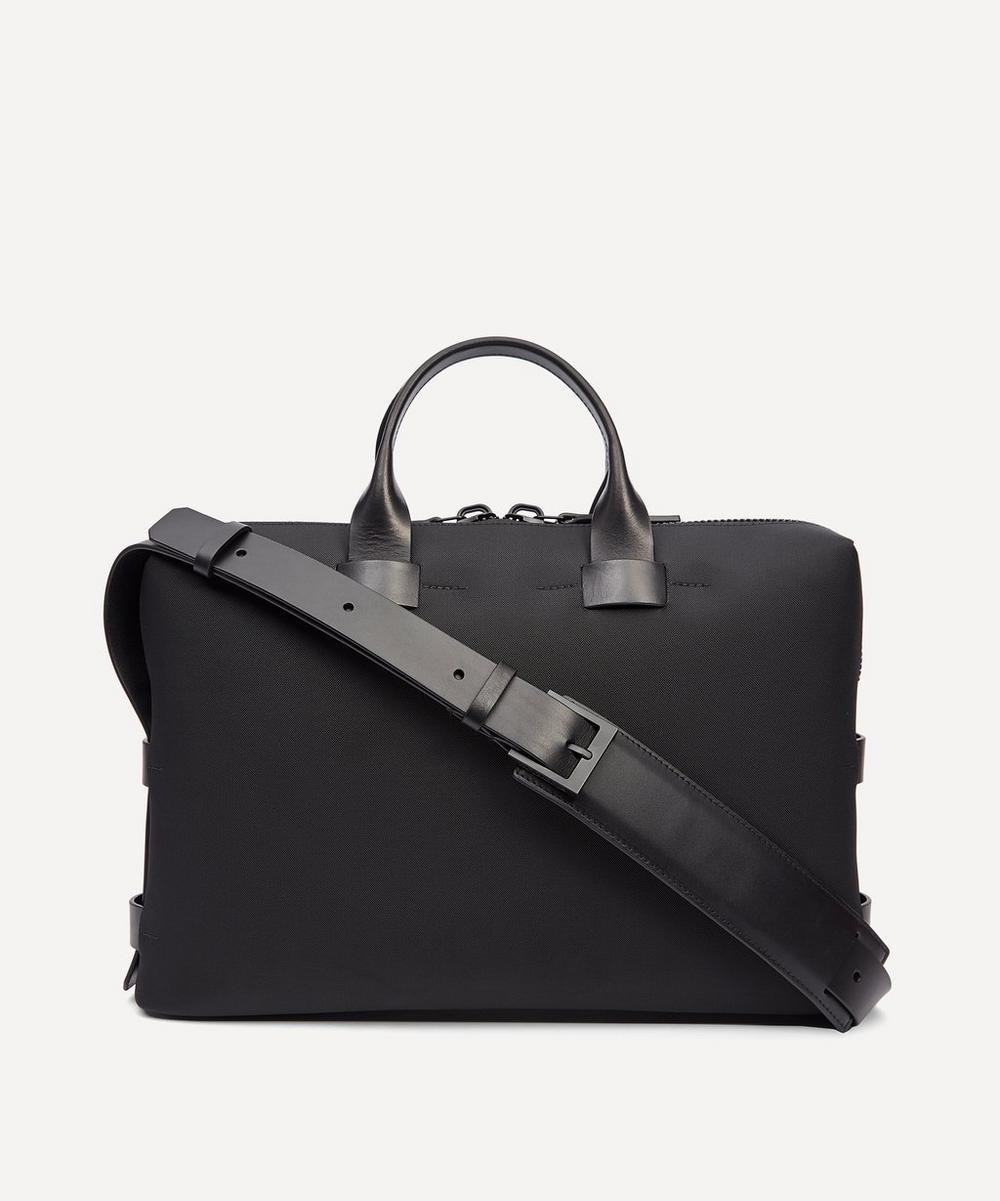 Troubadour - Fabric and Leather Slim Briefcase