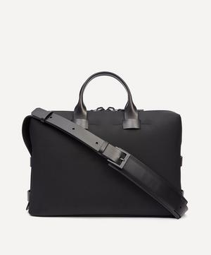 Fabric and Leather Slim Briefcase