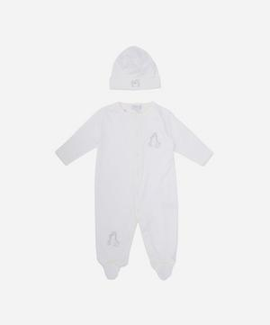 Giraffe Footie and Hat Set 0-6 Months