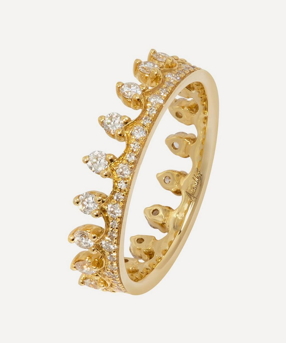 Annoushka - 18ct Gold Crown Diamond Ring