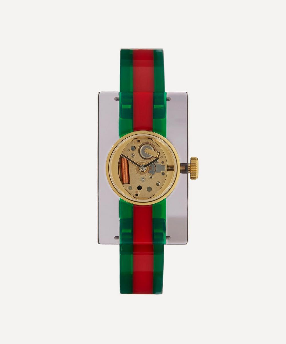 Gucci - Vintage Web Plexiglas Stripe Motif Watch