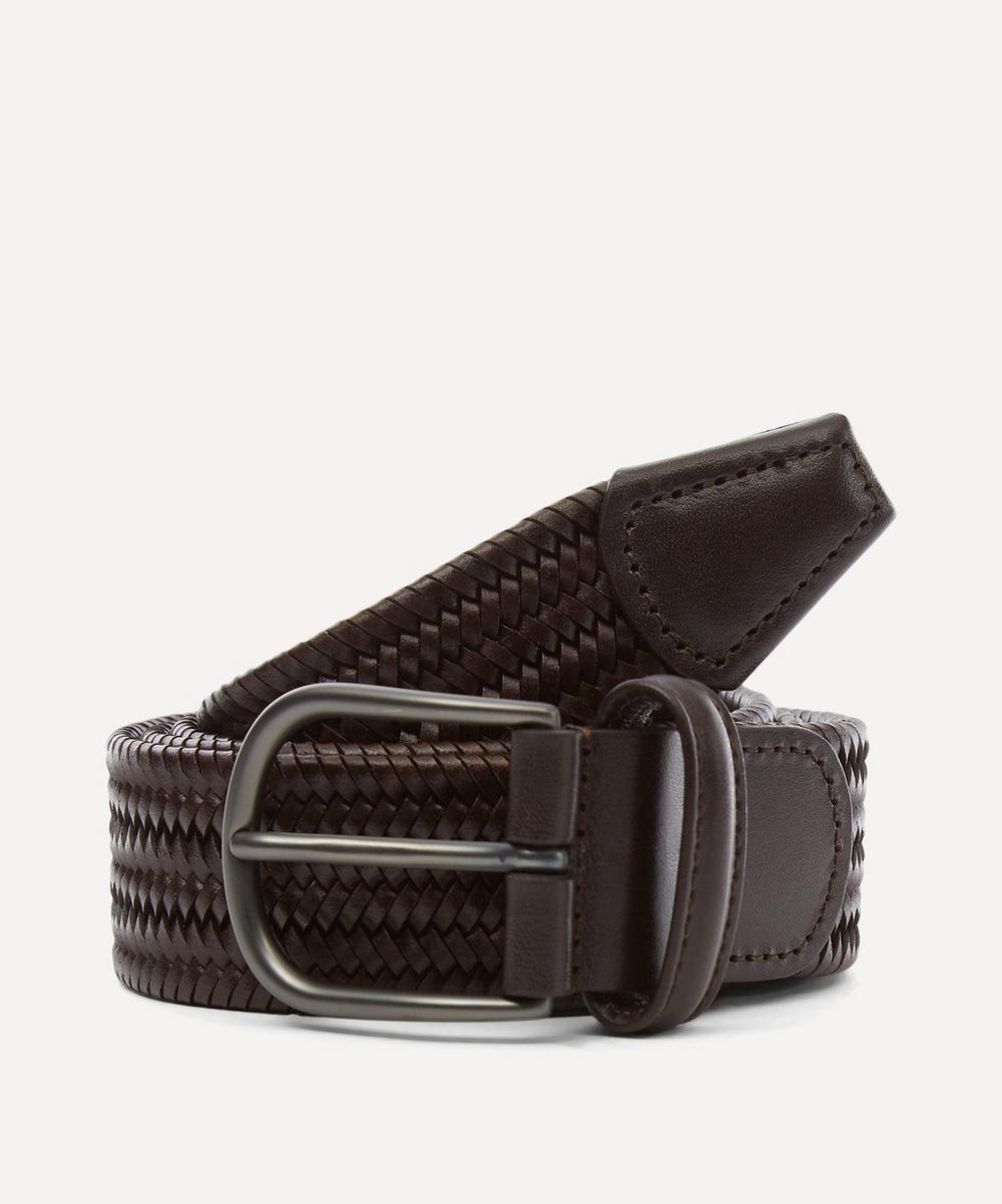Anderson's - Plain Leather Woven Belt