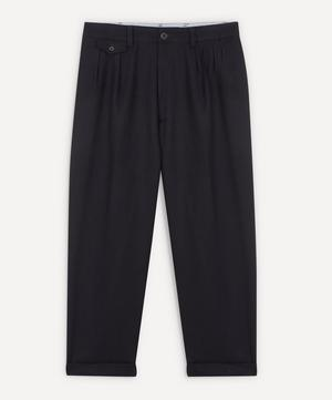2 Pleats Flannel Trousers