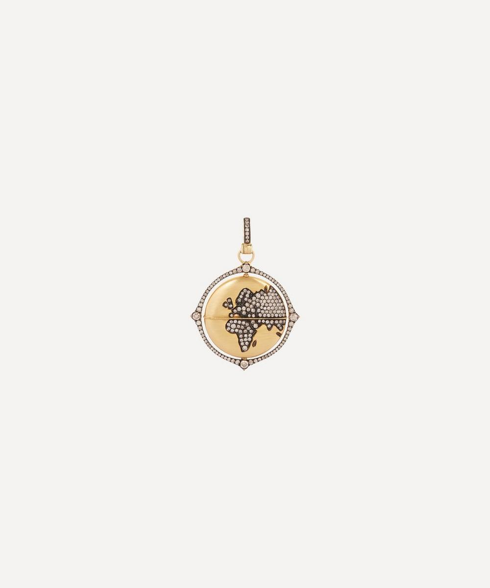 Annoushka - 18ct Gold Mythology Diamond Globe Pendant