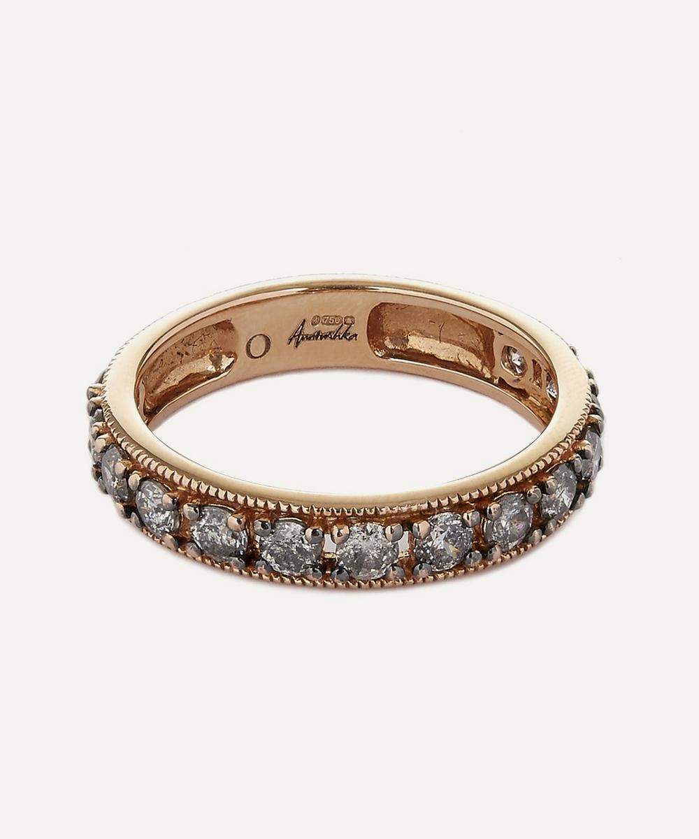 Annoushka - 18ct Rose Gold Dusty Diamonds Eternity Ring