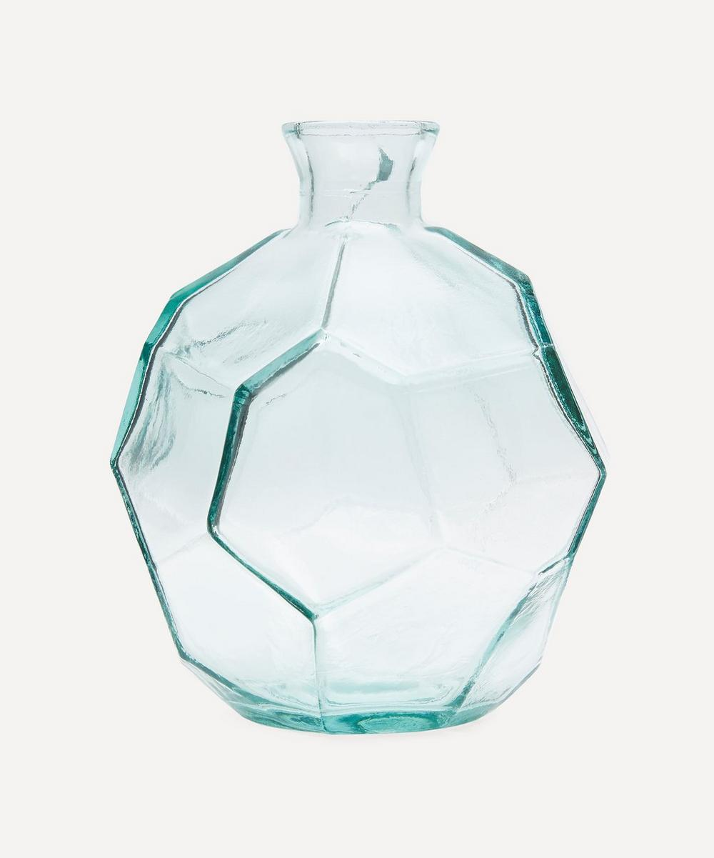 San Miguel Recycled Glass - Clear Origami Vase 18cm