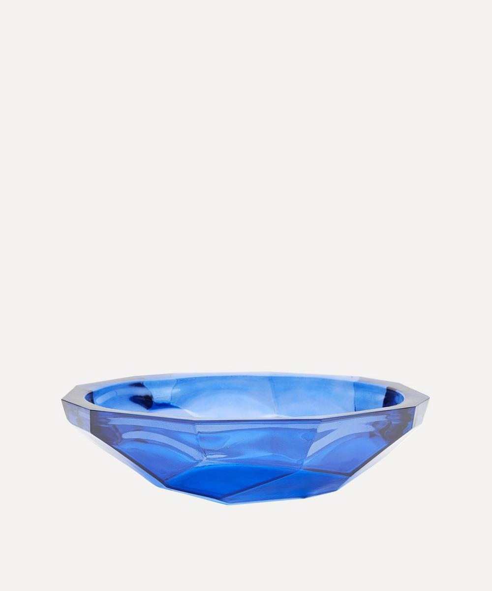San Miguel Recycled Glass - Blue Origami Bowl