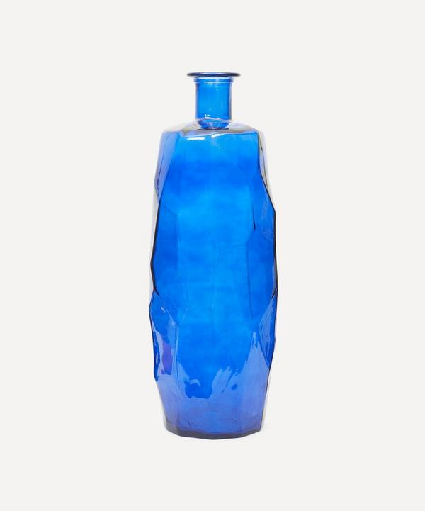 San Miguel Recycled Glass - Blue Origami Vase 75cm